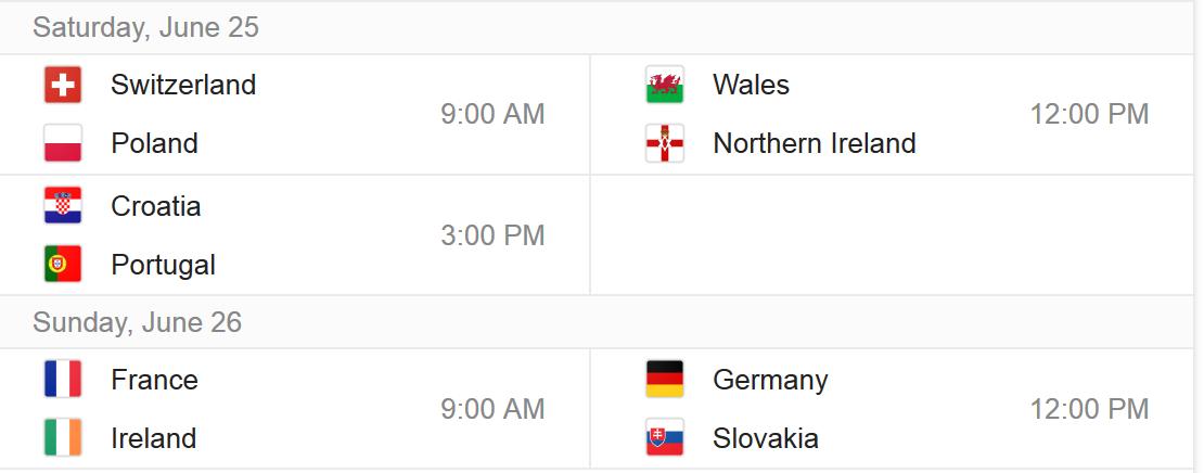 uefa schedule