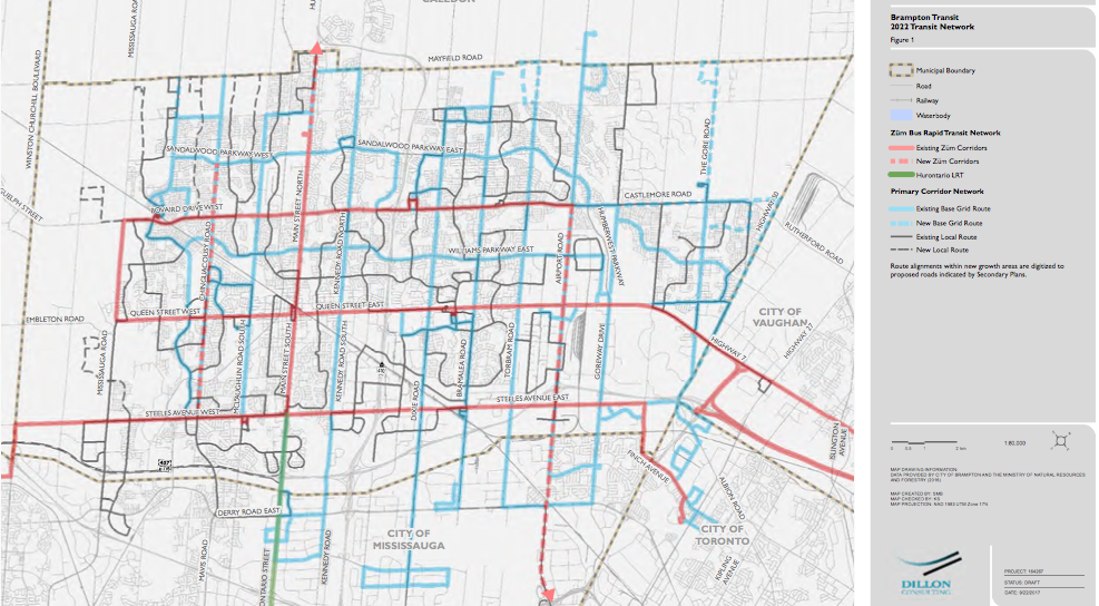 This Is Where Brampton Transit Plans to Expand its Routes Over the
