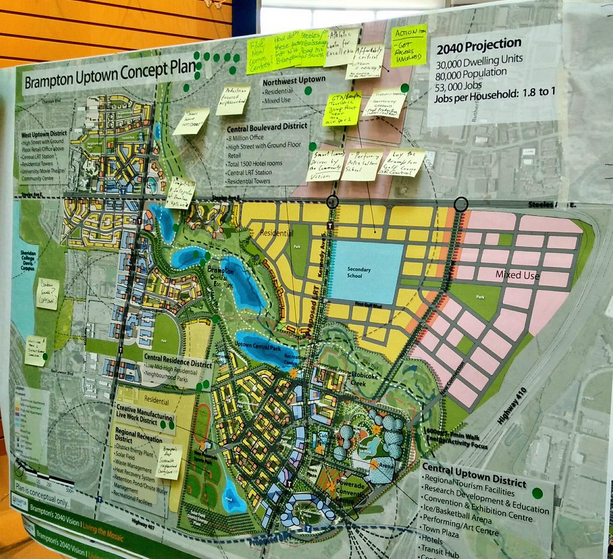 Closer view of Uptown Brampton concept, via @tooba_shakeel.