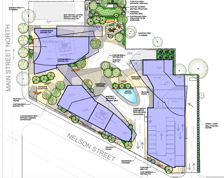 Landscaping plan for Rose Garden Residences // Courtesy of Weston Consulting