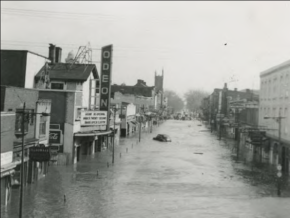 Downtown Brampton used to flood regularly before the storm channel was built. // Courtesy of Brampton
