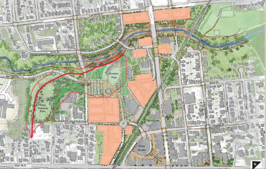 Riverwalk Master Plan // Courtesy of Brampton