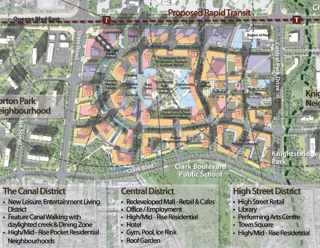 Bramalea City Centre District Overview // Courtesy of Larry Beasley & Associates and Civitas