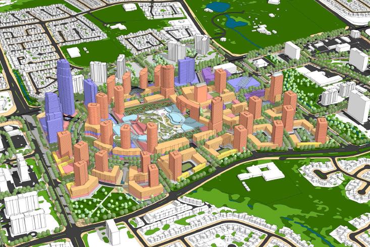 Bramalea City Centre 3D Concept // Courtesy of Larry Beasley & Associates and Civitas