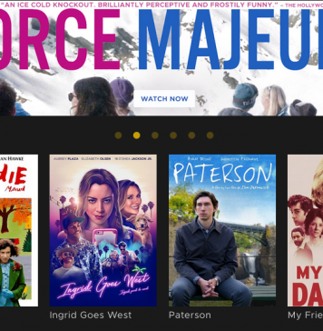 Front Page of Kanopy's Movie Selection // Courtesy of Kanopy