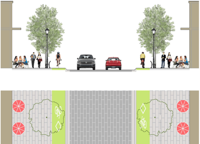 Raised bike lanes
