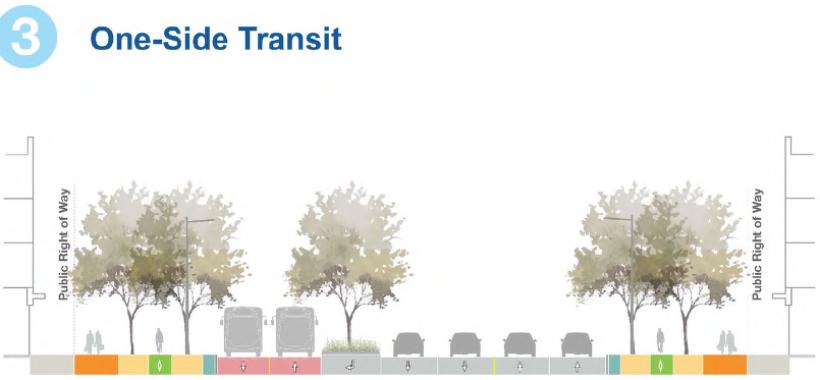 One-Side BRT option // Courtesy of the City of Brampton