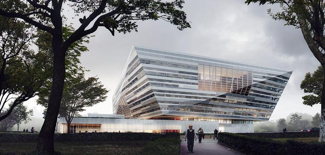 Shanghai Library East // Courtesy of Schmidt Hammer Lassen