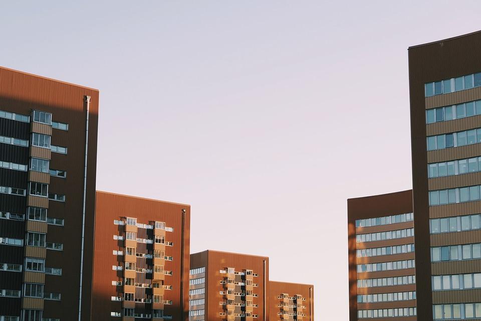 Buildings Flats City Condos Sky Apartments