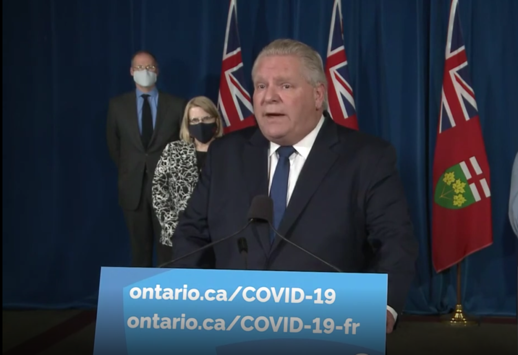 Premier Doug Ford announces new restrictions due to covid