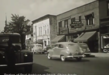 still from a historical video of downtown brampton in the 1940s courtesy of PAMA