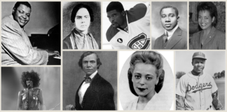 portraits of well known Black people in Canadian history